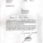 pismo min. K. Łandy