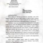 pismo od min. Michałkiewicza