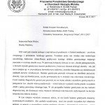 Pismo prof. M.Krawczyńskiego (1) - seminarium
