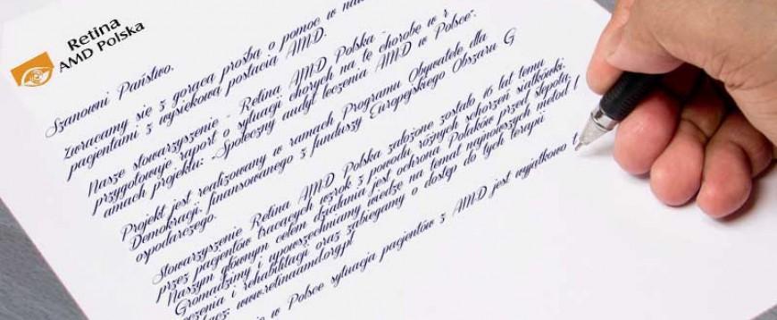 List do pacjentów z AMD