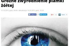 Artykuł w se.pl – Groźne zwyrodnienie plamki żółtej